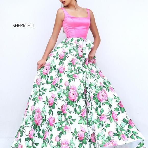 Sherri hill dresses floral prom dress poshmark m5b0a6eb7caab44ec9c242a17 mightylinksfo